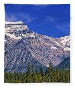 Mt. Robson, British Columbia Fleece Blanket
