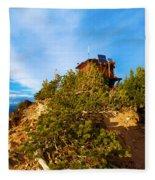 Mt Scott Fire Tower Fleece Blanket