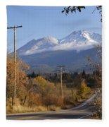 Mt Shasta Autumn Fleece Blanket