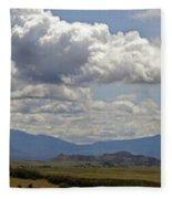 Mt Shasta On A Showery Spring Day Fleece Blanket