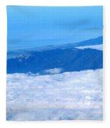 Mt Tamalpais From The Air Fleece Blanket