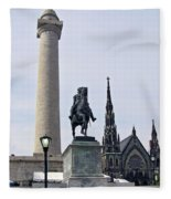 Mt. Vernon Landmarks Fleece Blanket