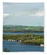 Muckross Lake From Atop Torc Waterfall 2 Fleece Blanket