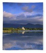 Muckross Lake, Ross Castle, Killarney Fleece Blanket