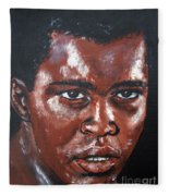 Muhammad Ali Formerly Cassius Clay Fleece Blanket