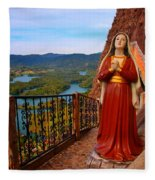 Mujer De La Piedra Fleece Blanket