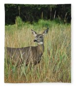 Mule Deer Winthrop Wa 9176 Fleece Blanket