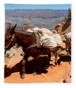 Mule Train Fleece Blanket