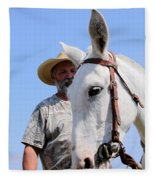 Mules At Benson Mule Day Fleece Blanket