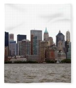Multi Color Nyc Buildings Fleece Blanket