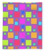 Multicoloured Squares Fleece Blanket