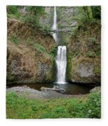Multnomah Falls - Wide View Fleece Blanket