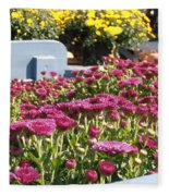 Mums At The Farm Stand Fleece Blanket