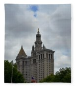 Municipal Building In New York Fleece Blanket
