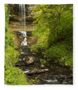 Munising Falls 1 Fleece Blanket