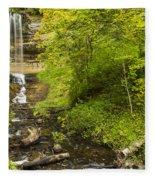 Munising Falls 3 Fleece Blanket