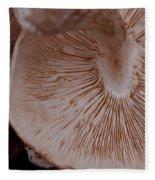 Mushroom Gills Fleece Blanket