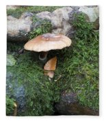 Mushroom In Moss Fleece Blanket