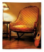 Music - String - The Chair And The Lute Fleece Blanket