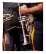 Music - Trumpet - Police Marching Band  Fleece Blanket