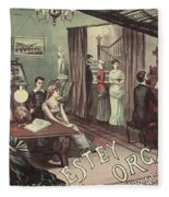 Musical Evening Ad, C1890 Fleece Blanket
