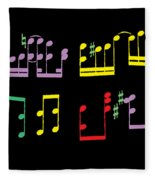 Musical Notes Fleece Blanket