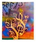 Musical Roots Fleece Blanket