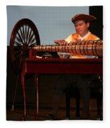 Musician And Glass Armonica Fleece Blanket