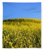 Mustard Grass Fleece Blanket