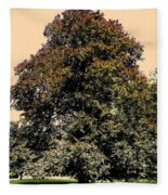 My Friend The Tree Fleece Blanket