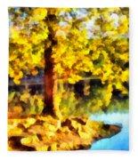 My Golden Tree Fleece Blanket