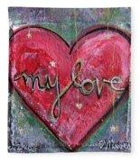 My Love Heart Fleece Blanket