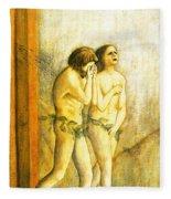 My Masaccio Expulsion Of Adam And Eve Fleece Blanket