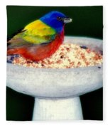 My Painted Bunting Fleece Blanket