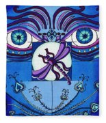 My Soulful Eyes Fleece Blanket