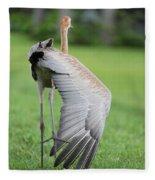 My Wing Is As Long As My Leg Fleece Blanket