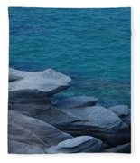Mykonos Cliff Frog Greece Fleece Blanket