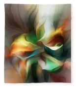 Mysterious Bloom Fleece Blanket