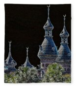 Mysterious Minarets Fleece Blanket