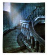 Mysterious Stairway In Old Mansion Fleece Blanket