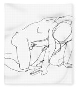 Naked-man-art-18 Fleece Blanket