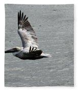 Naples Florida Pelican On The Prowl Fleece Blanket