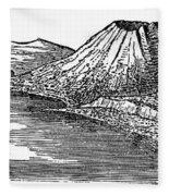 Naples: Monte Nuovo, 1887 Fleece Blanket