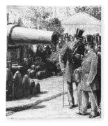 Napoleon IIi At Paris, 1867 Fleece Blanket