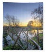 Narrow Iron Bridge Fleece Blanket
