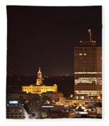 Nashville Cityscape 5 Fleece Blanket