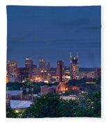 Nashville Cityscape 7 Fleece Blanket