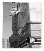 Nathan's Famous At Coney Island In Black And White Fleece Blanket
