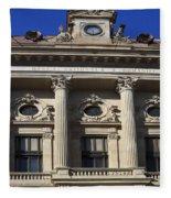 National Bank Of Romania Fleece Blanket
