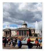 National Gallery At Trafalgar Square Fleece Blanket